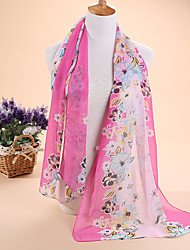 New flowers chiffon scarf silk scarves