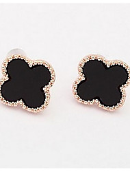 Golden Alloy Wintersweet Stud Earrings