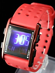 Women's Fashion Plastic Band Digital Watch