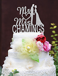 Personalized Wedding Cake Topper with Couples Last Name