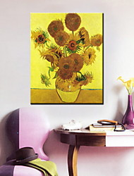 Oil Paintings One Panel Modern Sunflower Hand-painted Canvas Ready to Hang
