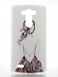 Para Capinha LG Estampada Capinha Capa Traseira Capinha Mulher Sensual Rígida PC LG LG G4 / LG G3