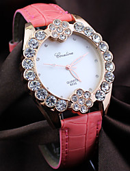 Women's round diamond alloy Dial Quartz Fashion flower  dress wrist  Watch Cool Watches Unique Watches