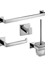 Badezimmer Zubehörset/Handtuchstangen/Klosettpapierrollehalter/Robehaken/Toilettenbürstehalter Zeitgenössisch - Wand befestigend
