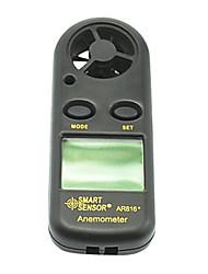 mini windmeter met lcd-display en thermometer