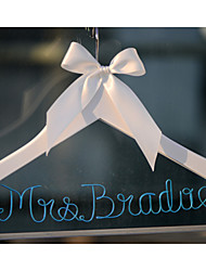 Personalized Custom Wedding Dress Hanger with Blue Wire Name