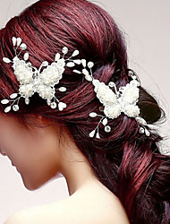 Butterfly Shaper Hair Flower Bride Hair Wedding Headdress Wedding Accessories One Piece