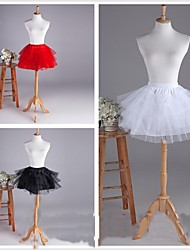 Slips Ball Gown Slip Short-Length 4 Tulle Netting White Black Red