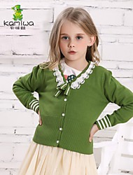 KAMIWA®Girl's Spring/Fall Green/Hotpink Lace/Bow Full Tees/Shirts/Cardigans/Hoodies Sweatshirts Kids Clothing(Cotton)