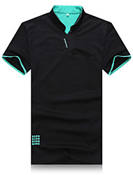 Men's Short Sleeve Polo , Cotton Casual/Work/Formal/Sport/Plus Sizes Pure