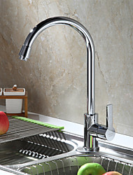 Sprinkle Deck Mounted Single Handle One Hole with Brushed Kitchen faucet