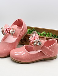Baby Shoes Dress Patent Leather Flats Pink/Orange/Coral