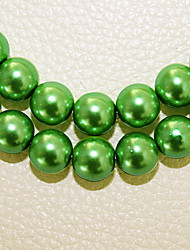 Beadia 3 Str(approx 580pcs) Fashion 4mm Round Glass Pearl Beads Green Color DIY Spacer Loose Beads