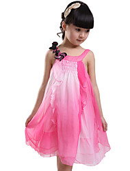 Children Kids Girls Baby Sleeveless Sling Chiffon Summer Dress Clothes