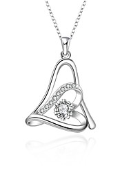 Cremation jewelry 925 sterling silver Heart with Zircon Pendant Necklace for Women