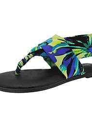 женская обувь ткани плоский каблук Slingback / флип-флоп сандалии / тапочки одеть больше цветов имеющиеся