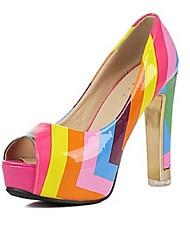 Zapatos de mujer - Plataforma - Punta Abierta / Plataforma - Tacones - Casual - Semicuero - Multicolor