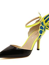Pumps/Heels Negro/Amarillo )- 6-9cm - Tacón de estilete para Zapatos de mujer
