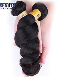 """3 peças / lote 12 """"-30"""" 6a brasileiras virgens extensões de cabelo solto onda 100% cabelo humano virgem não transformados tece"""