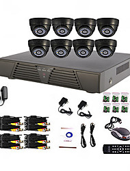 8 canali per Home e Office fai da te sistema del CCTV DVR (P2P online, 8 Indoor Dome Camera)