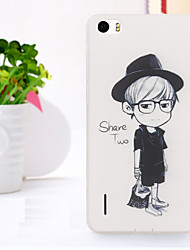 New Fashion 3D Beauty Flower Colorful Totem Tpu Cartoon Soft Case for Huawei Honor 6
