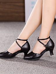 Zapatos de baile (Negro/Rojo/Plata/Oro) - Moderno - No Personalizable - Tacón Cubano