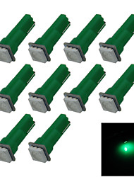 10X  Green T5 1 5050 LED Dashboard Licence  Plate Speed  Wedge Light Vehicle Car Blub D12V B001