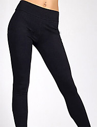 Women's Solid Blue/White/Black Skinny Pants , Casual