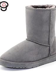 mg para mujer de las botas de piel auténtica clásica bota de piel de oveja twinface nieve del invierno