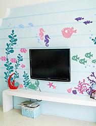 pegatinas de pared de estilo calcomanías de pared pegatinas submarino pvc flor