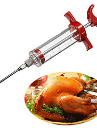 Marinade Flavour Injector Syringe Sauce Seasoning Gadget Needle Turkey BBQ Meat(Random Color)