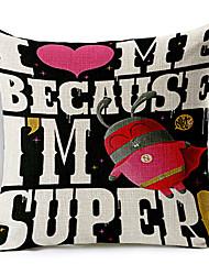 современный стиль мультфильма супер мне хлопок / лен декоративная подушка крышка