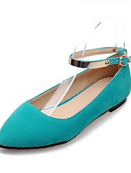 Women's Shoes PU Summer / Fall Comfort / Pointed Toe / Flats Flats Office & Career /  Casual Flat Heel BuckleBlack