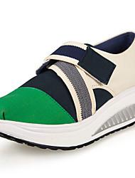 Zapatos de mujer - Tacón Cuña - Plataforma / Zapatos de Cuna - Zapatos de Deporte - Oficina y Trabajo / Casual - Tela -Azul / Negro /