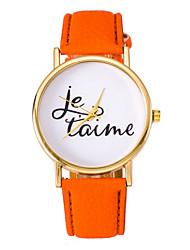 Femme Montre Tendance Quartz Cuir Bande Bracelet Montre Bleu / Orange / Marron / Violet