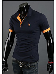 Tay-lor Men's Casual Shirt Collar Short Sleeve T-Shirts