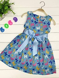 Kid's Dress,Cotton / Organza Cute TYJ