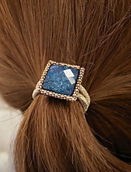 Han Edition Simple Square Diamond Shining Hair Bands Sinews(red white blue)