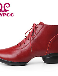 Zapatos de baile (Negro/Rojo) - Dance Sneakers - No Personalizable - Tacón grueso