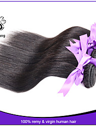 Unprocessed 7A Indian Virgin Hair Silky Straight Human Hair Weaves Cheap Human Hair Extensions Hair Weft