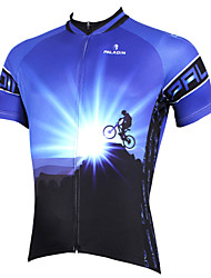 ILPALADINO Cycling Jersey Men's Short Sleeve BikeBreathable Quick Dry Ultraviolet Resistant Compression Lightweight Materials Back Pocket