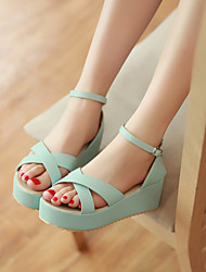 Women's Shoes Wedge Heel Wedges/Heels/Platform Sandals Office & Career/Dress/Casual Blue/Yellow/Red/White