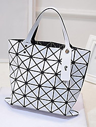 Women'S Retro Leather Handbag Shopping Bag Large Bag