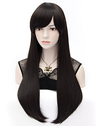 Kaye Middle Length Black Straight Hair Wig