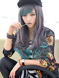 новые соз аниме символов длинные вьющиеся волосы парик голубой градиент характер парики