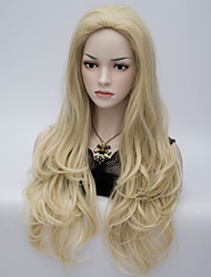 European and American Wind Shallow High Temperature Wire Level Blond Curls