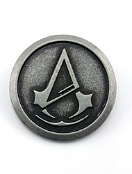 Jóias Inspirado por Assassin's Creed Connor Anime/Games Acessórios de Cosplay Crachá / Broche Preto Liga Masculino