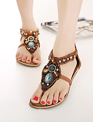 Women's Shoes  Flat Heel Mary  Sandals Casual Brown