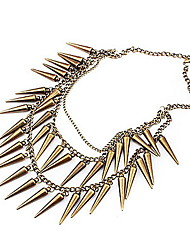 European And American Fashion Atmosphere Multilayer Small Chili Awl Punk Style Necklace