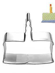 Birthday Cake Shape Cookie Cutters Set Fruit Cut Molds Stainless Steel
